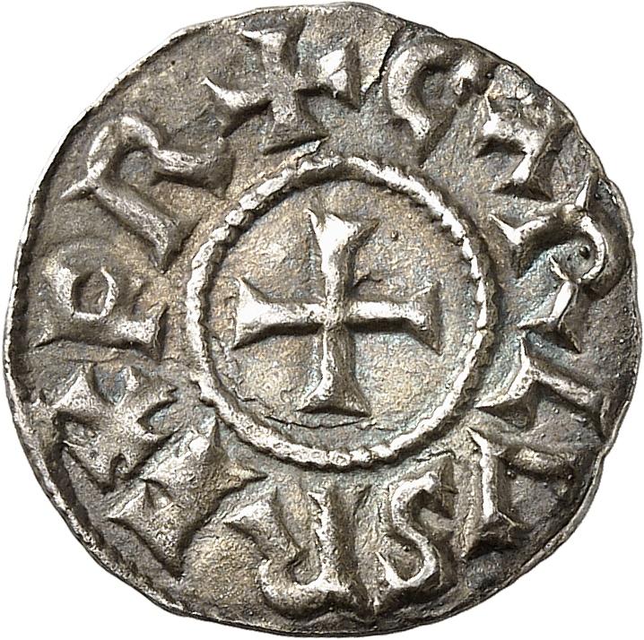 FRANCE Carolingiens. Charlemagne (768-814). Denier, Tours.