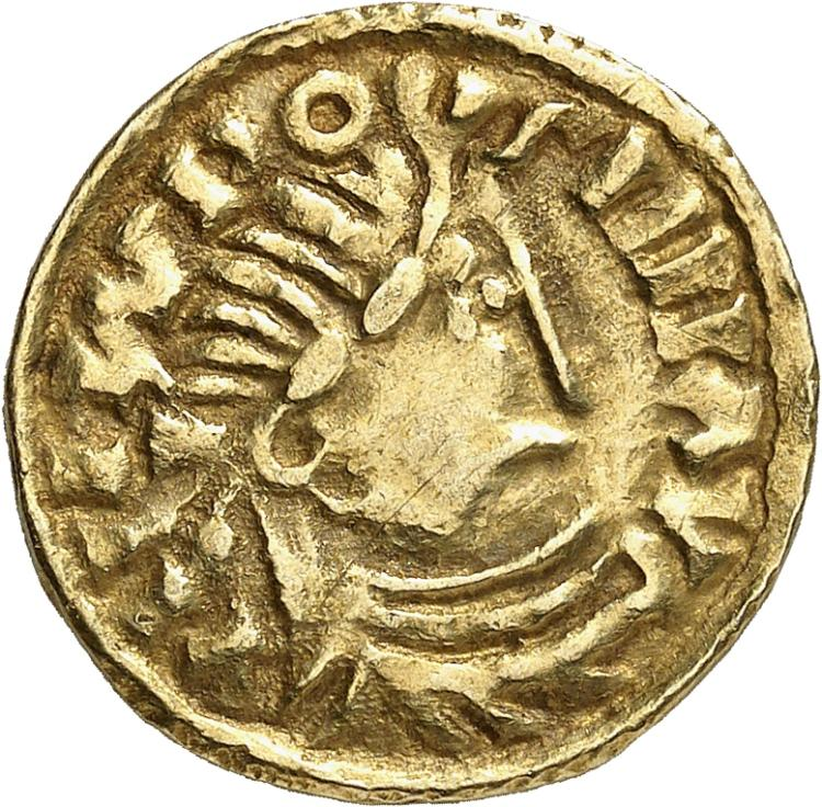 FRANCE Carolingiens. Louis le Pieux (814-840). Solidus, imitation frisonne.