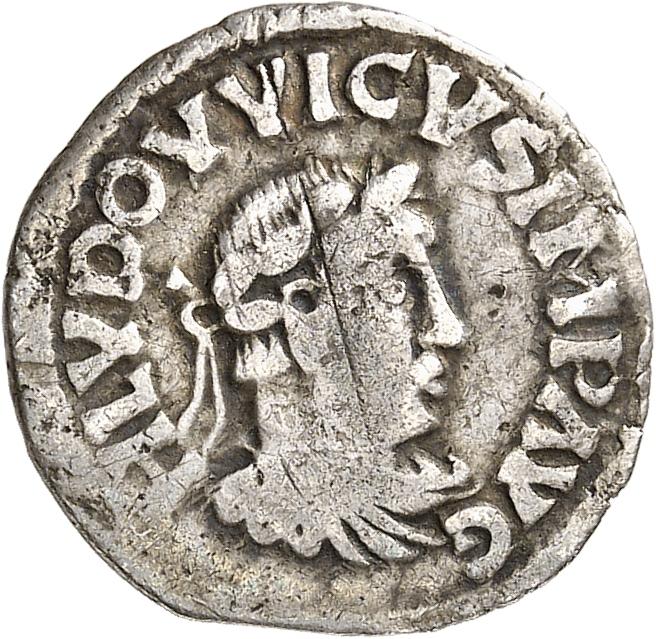 FRANCE Carolingiens. Louis le Pieux (814-840). Denier.