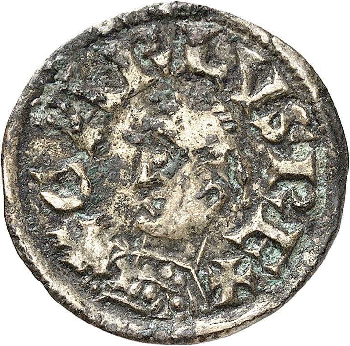 FRANCE Carolingiens. Charles le Chauve (843-877). Denier, Bourges.