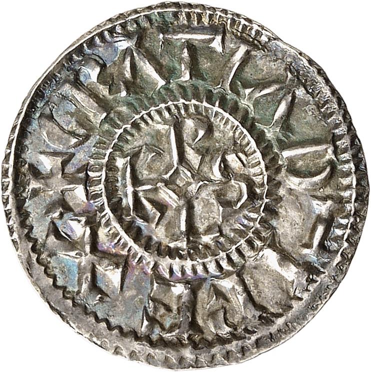 FRANCE Carolingiens. Charles le Chauve (843-877). Denier, Rennes.