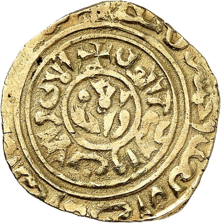 FRANCE Louis IX (1245-1270). Dinar frappé pour les croisades à Saint Jean d'Acre.