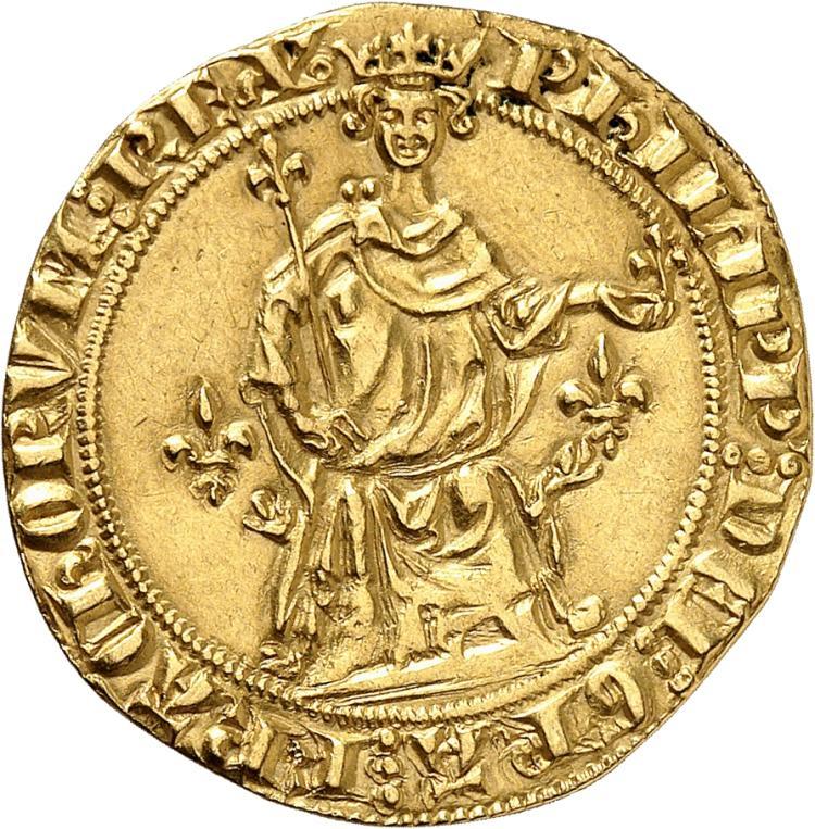 FRANCE Philippe IV (1285-1314). Florin d'or à la reine émission de 1305.