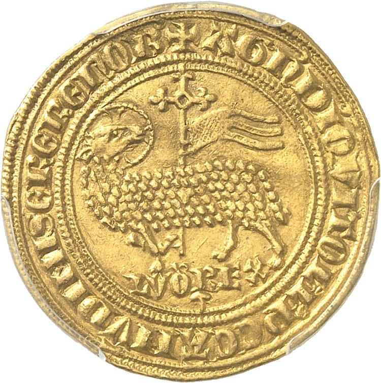 FRANCE Louis X (1314-1316). Agnel d'or émission du 6 mai 1315.