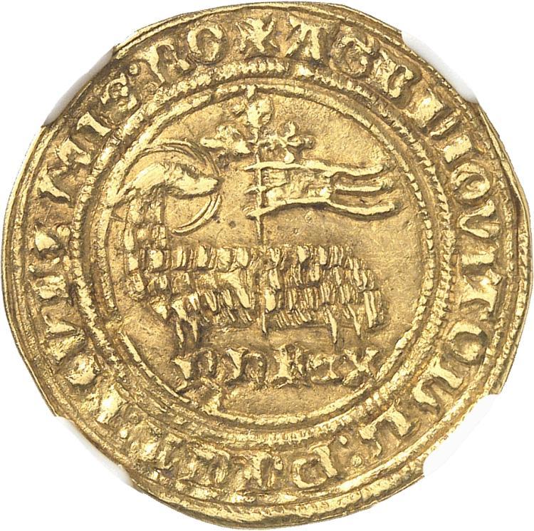 FRANCE Philippe V (1316-1322). Agnel d'or, 8 décembre 1316.