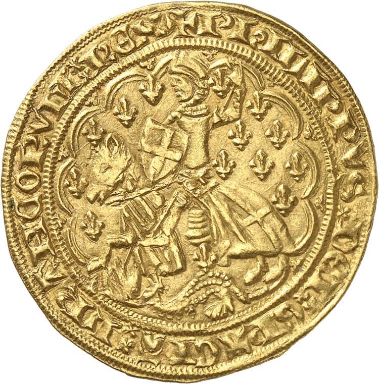 FRANCE Philippe VI (1328-1350). Florin Georges 2ème émission 1346, Montreuil-Bonnin.