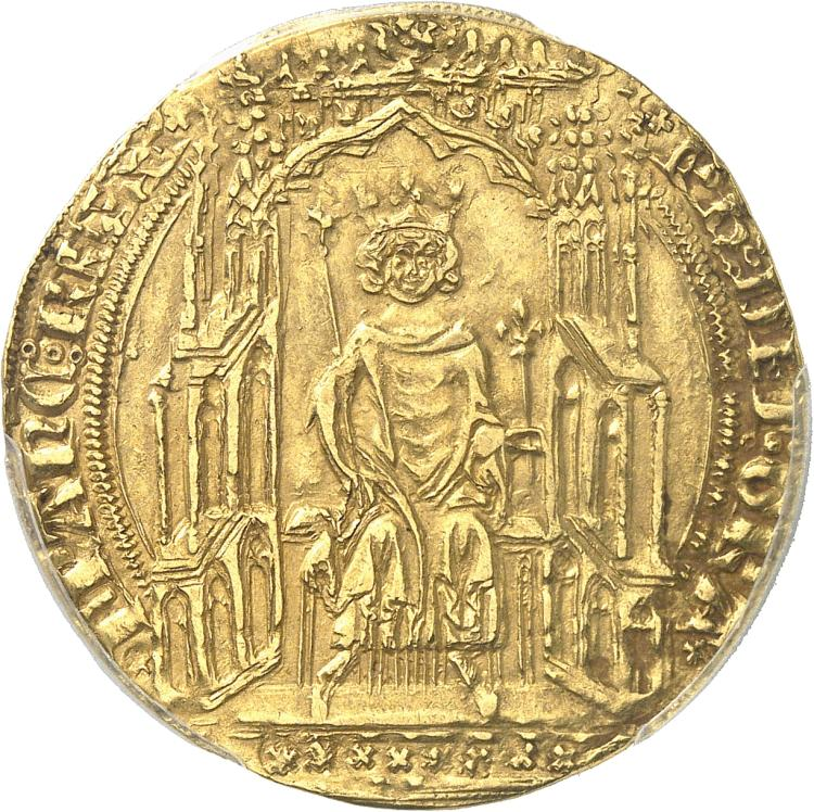 FRANCE Philippe VI (1328-1350). Double d'or Ière émission du 6 avril 1340.