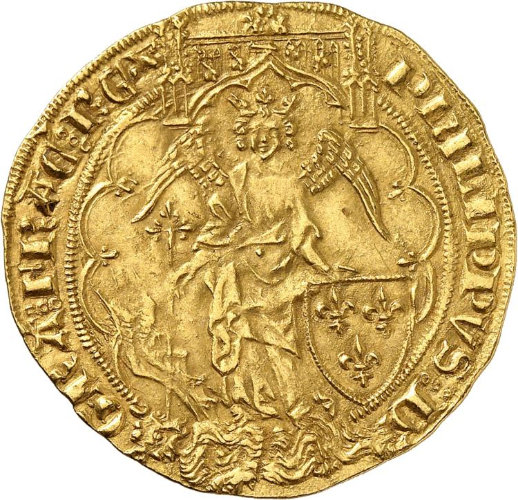 FRANCE Philippe VI (1328-1350). Ange d'or 2e?me e?mission du 8 août 1341.