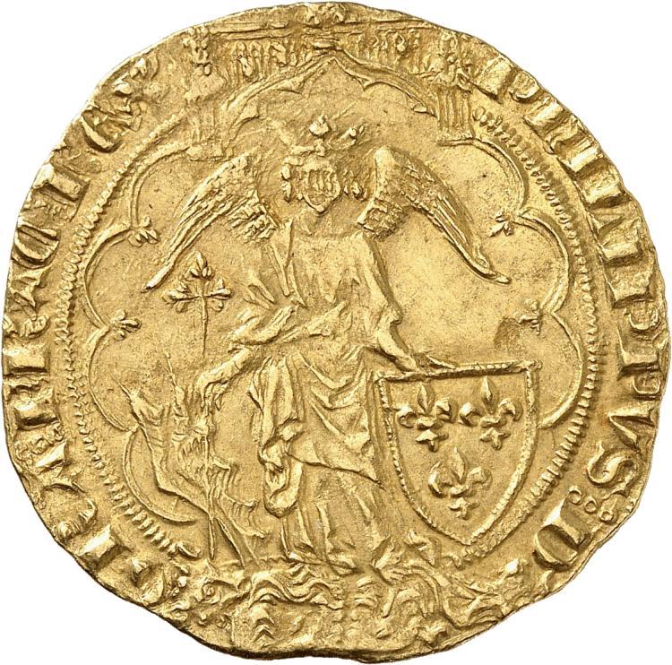 FRANCE Philippe VI (1328-1350). Ange d'or 2e?me e?mission du 8 août 1341.