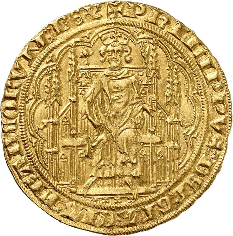 FRANCE Philippe VI (1328-1350). Chaise d'or 2ème émission de 1346.