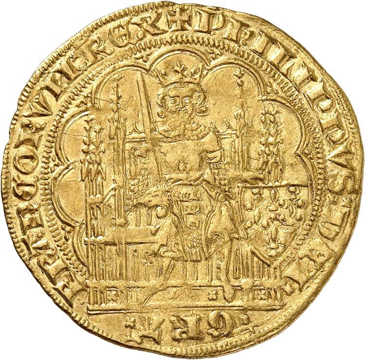 FRANCE Philippe VI (1328-1350). Écu d'or à la chaise première émission 1337.