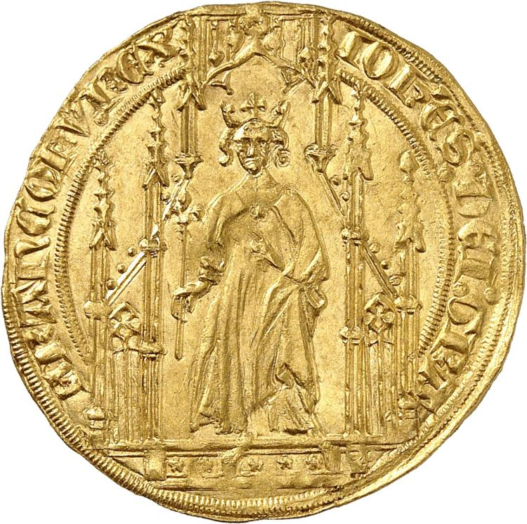 FRANCE Jean II le Bon (1350-1364). Royal d'or 2ème émission avril 1359.