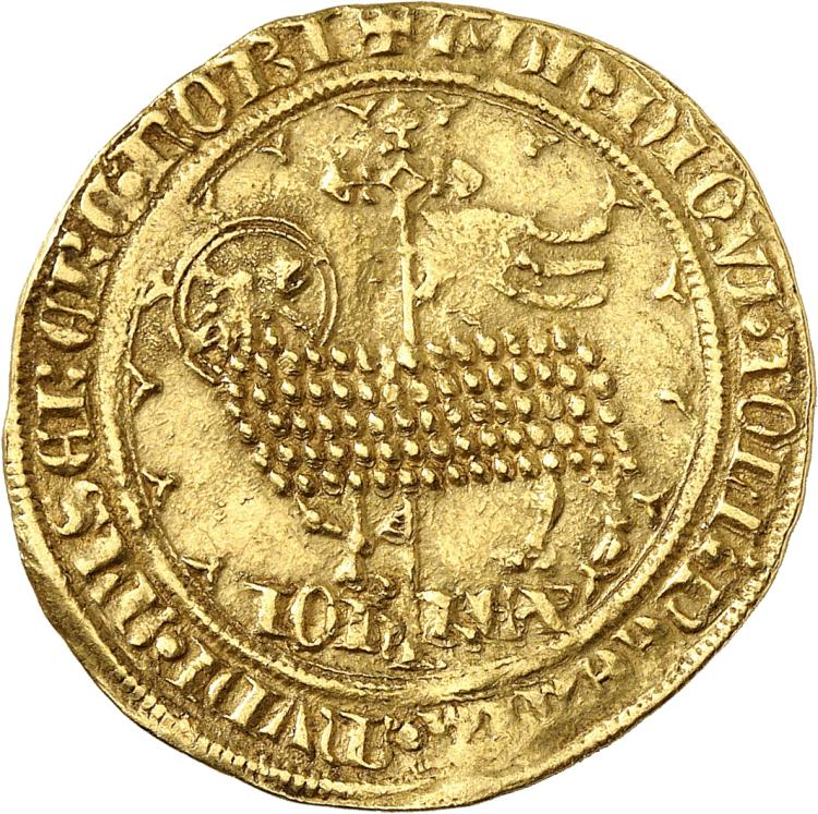 FRANCE Jean II le Bon (1350-1364). Mouton d'or.