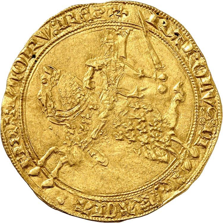 FRANCE Charles V (1364-1380). Franc à cheval 1364.