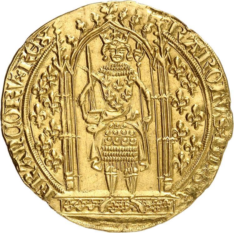 FRANCE Charles V (1364-1380). Franc à pied 20 avril 1365.