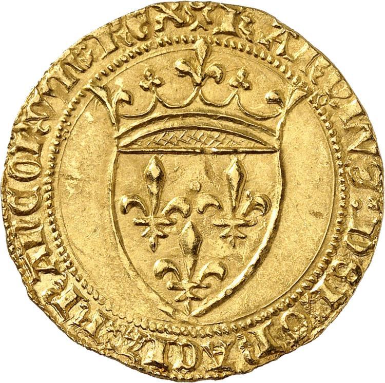 FRANCE Charles VI (1380-1422). Écu d'or à la couronne première émission.