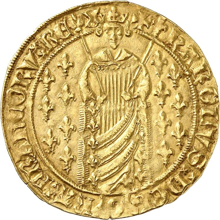 FRANCE Charles VII (1422-1461). Royal d'or première émission, Montélimar.