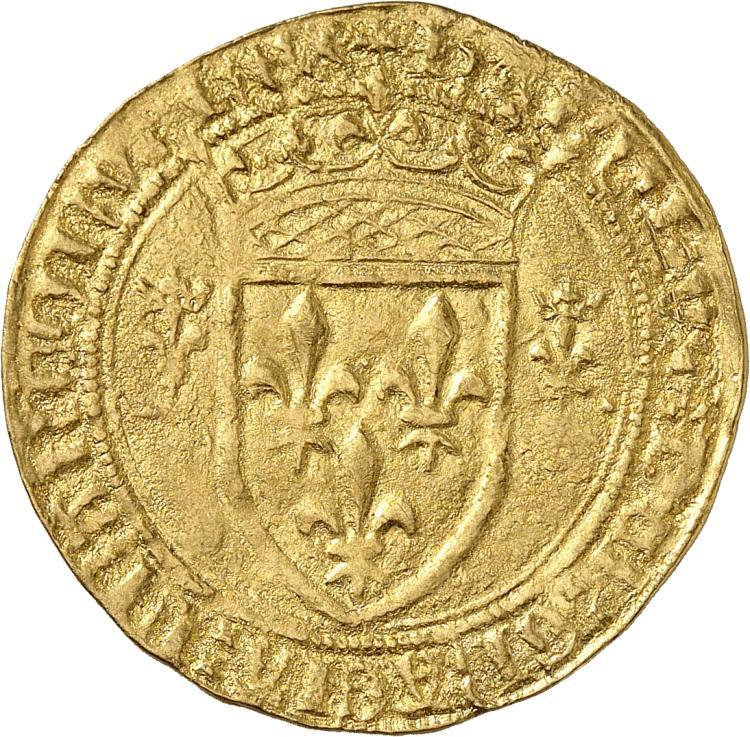 FRANCE Charles VII (1422-1461). Écu d'or dit « écu neuf », première émission, point 3°, Mirabel.