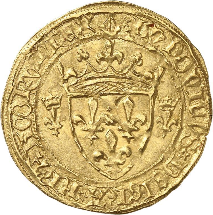 FRANCE Louis XI (1461-1483). Écu d'or première émission, Bordeaux (nef).