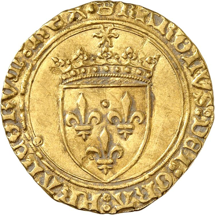 FRANCE Charles VIII (1483-1498). Écu d'or à la couronne, première émission, point 18° Paris.