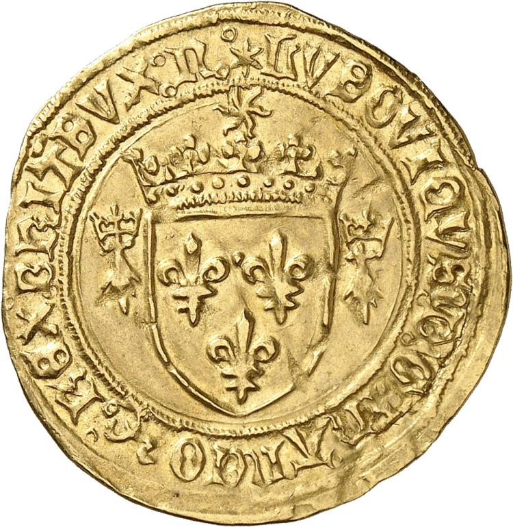 FRANCE Louis XII (1498-1514). Écu d'or au soleil de Bretagne, Nantes.