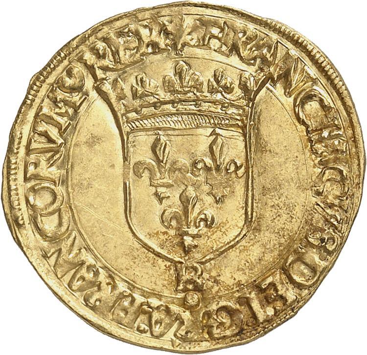 FRANCE François Ier (1515-1547). Écu d'or à la croisette, Rouen.