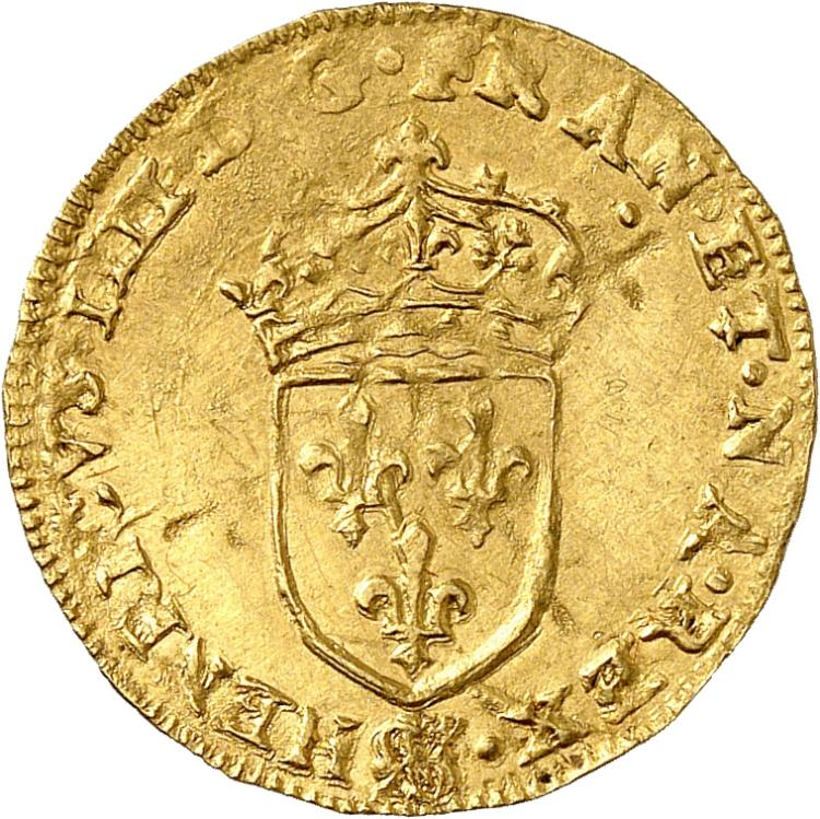 FRANCE Henri IV (1598-1610). ½ écu d'or 1er type 1609, Paris.