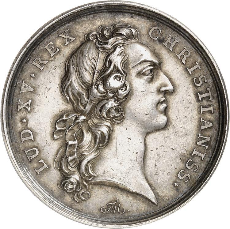 TURQUIE Médaille en argent 1739, célébrant le traité de Belgrade, avec le concours de la médiation Française, entre l'Allemagne, la Russie et la Turquie.
