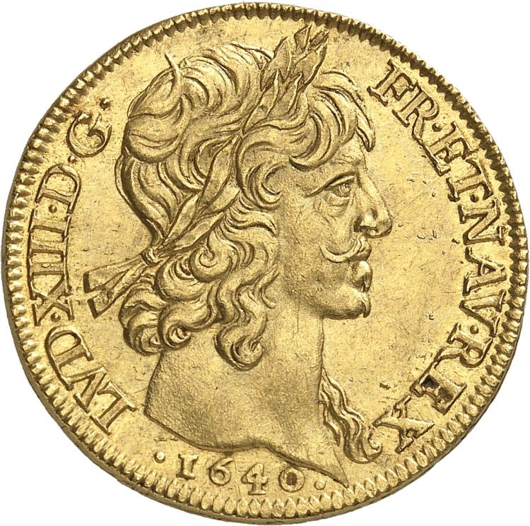 FRANCE Louis XIII (1610-1643). Double louis d'or 1640, Paris.