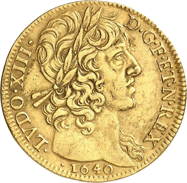 FRANCE Louis XIII (1610-1643). Double louis d'or 1640 type « LVDO », Paris.