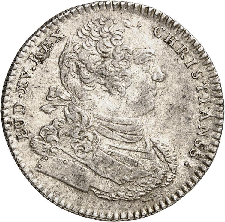 USA Amérique, Canada, Louis XV (1715-1774). Jeton en argent 1757, sans signature.