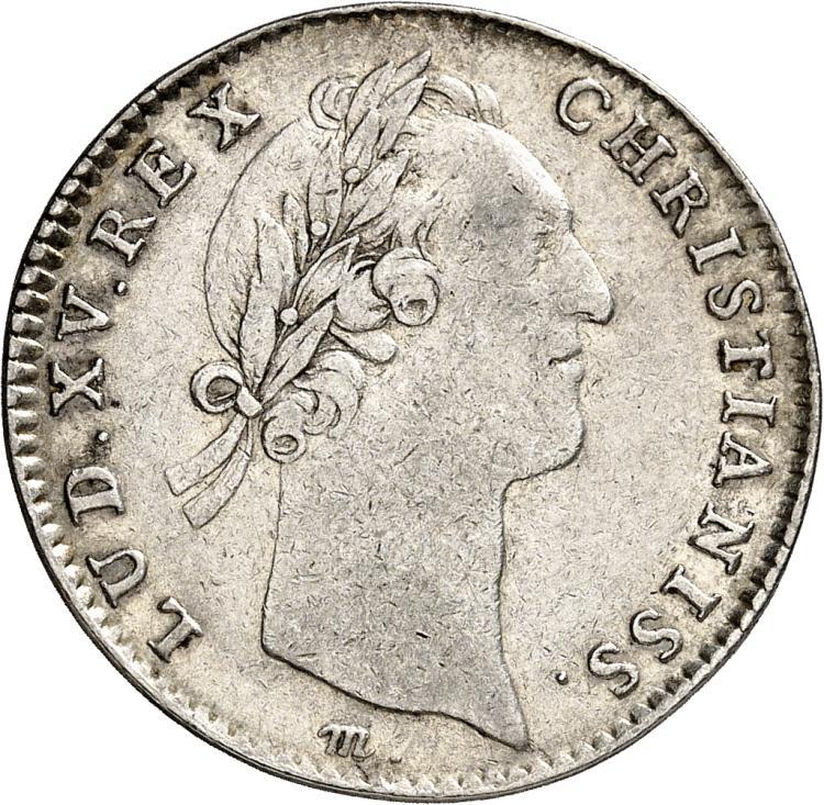 USA Amérique, Canada, Louis XV (1715-1774). Jeton en argent 1757, signature M sous le buste.
