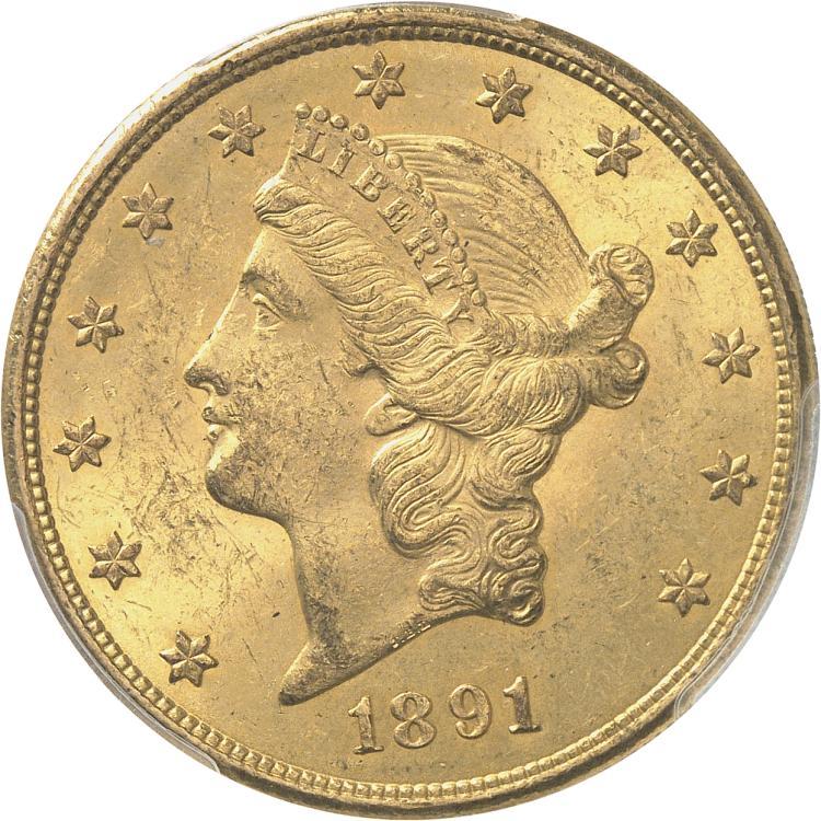 USA 20 dollars Liberté 1891, San Francisco.