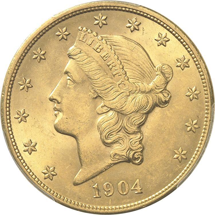 USA 20 dollars Liberté 1904, Philadelphie.