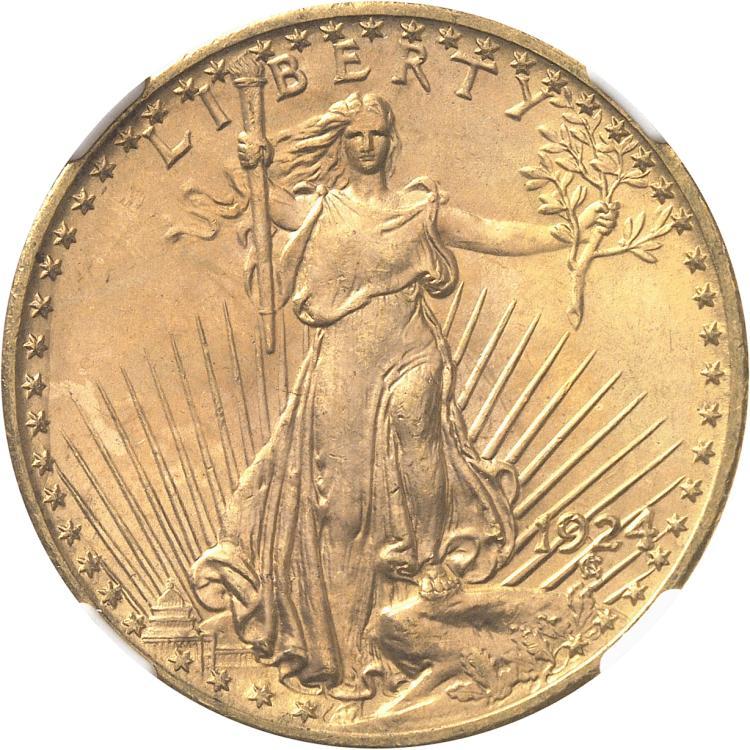 USA 20 dollars « Saint-Gaudens » 1924, Philadelphie.