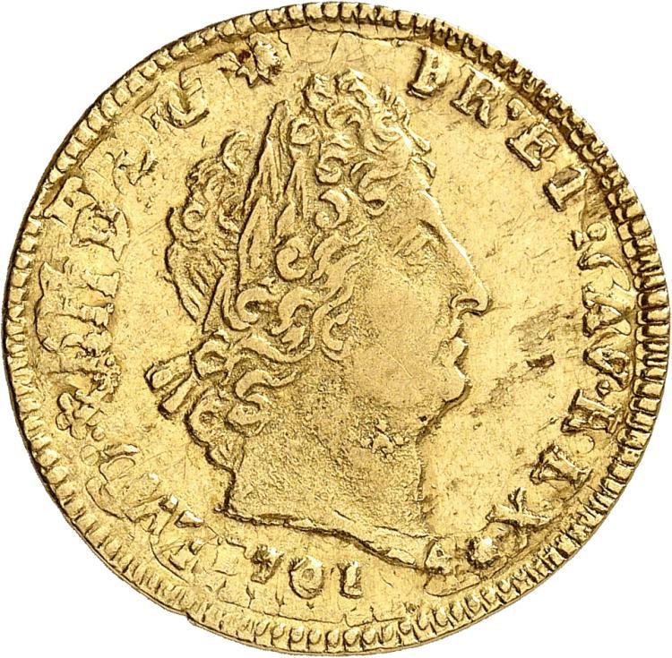 FRANCE Louis XIV (1643-1715). Louis d'or aux 8 L et aux insignes 1701, Lille, réformation.