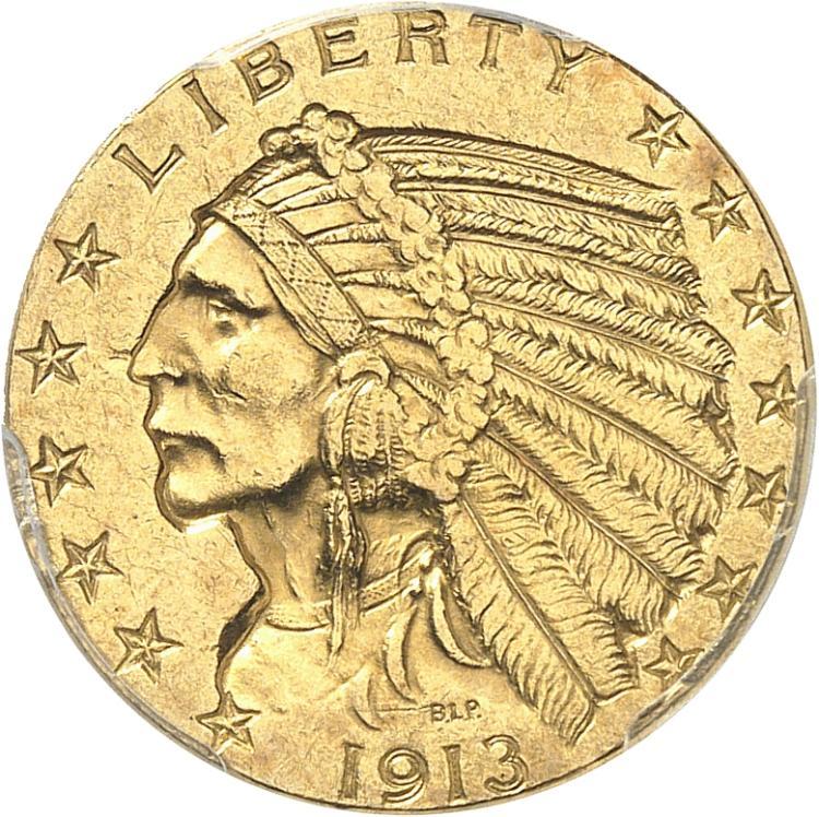 USA 5 dollars Indien 1913, Philadelphie.