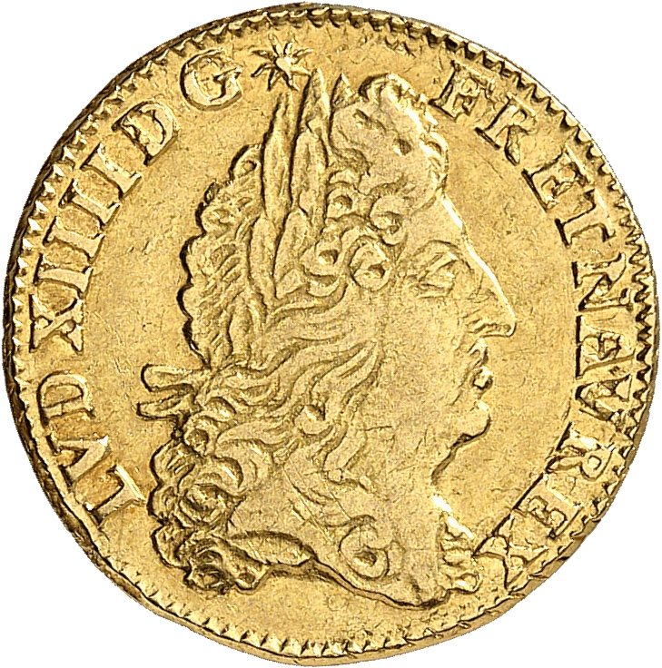 FRANCE Louis XIV (1643-1715). 1/2 louis d'or à l'écu 1690, Rouen, réformation.