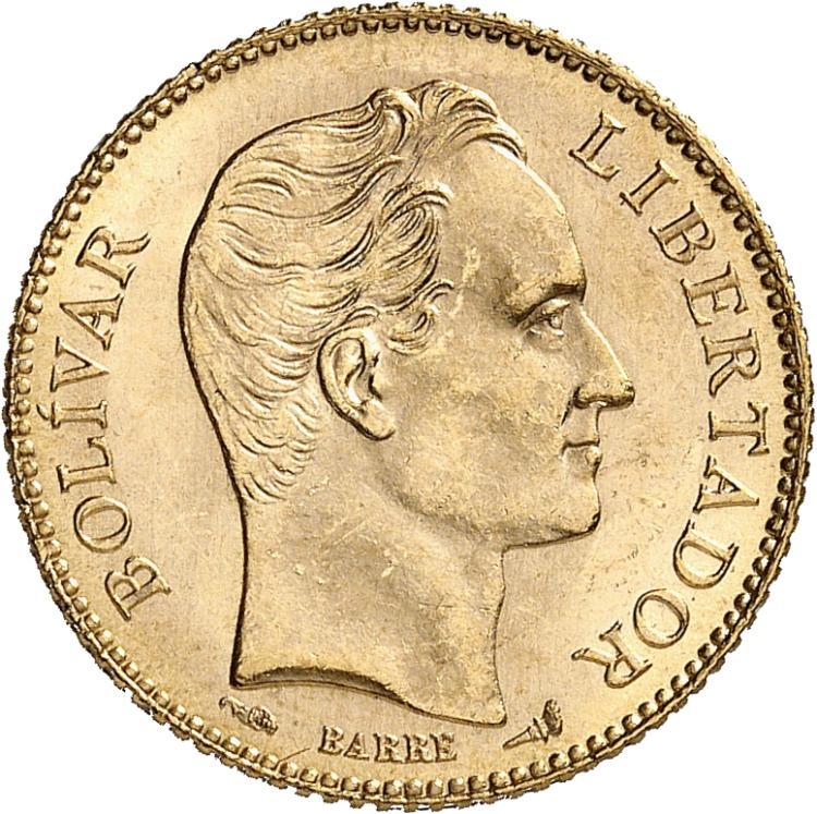 VÉNÉZUELA République (1830- ). 20 bolivares 1904.