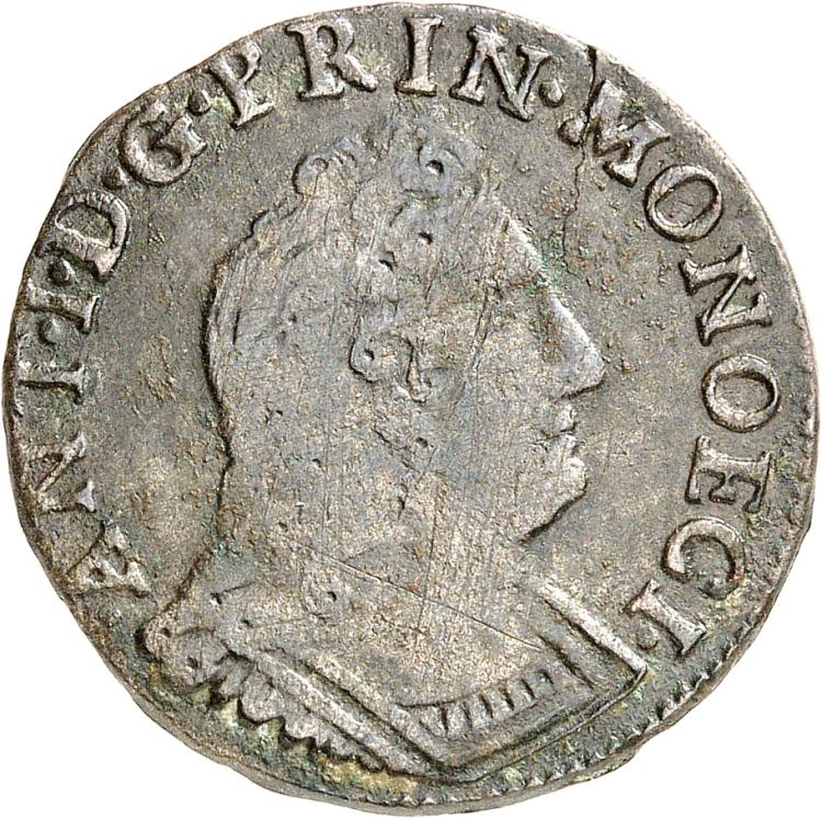 MONACO Antoine Ier (1701-1731). Pezzetta 1720.