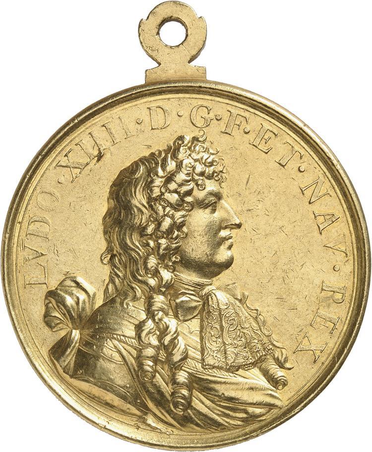 FRANCE Louis XIV (1644-1715). Médaille en or 1679, frappée pour célébrer le traité de Nimègue par Le Ferme.