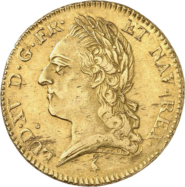 FRANCE Louis XV (1715-1774). Double Louis d'or à la vieille tête 1771, Paris.
