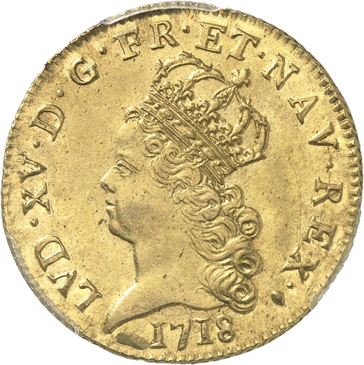 FRANCE Louis XV (1715-1774). Louis d'or de Noailles 1718, Aix en Provence.