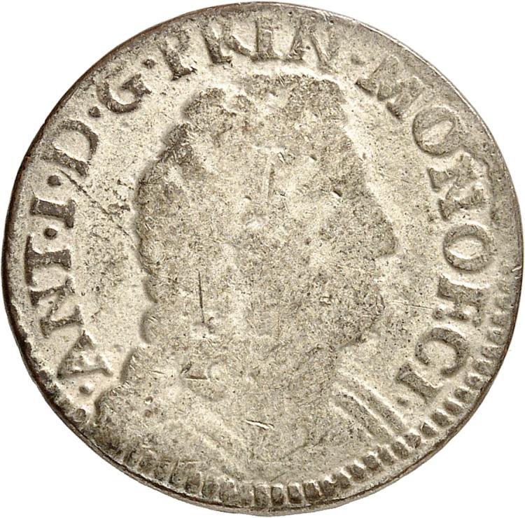 MONACO Antoine Ier (1701-1731). Pezzetta 1707.