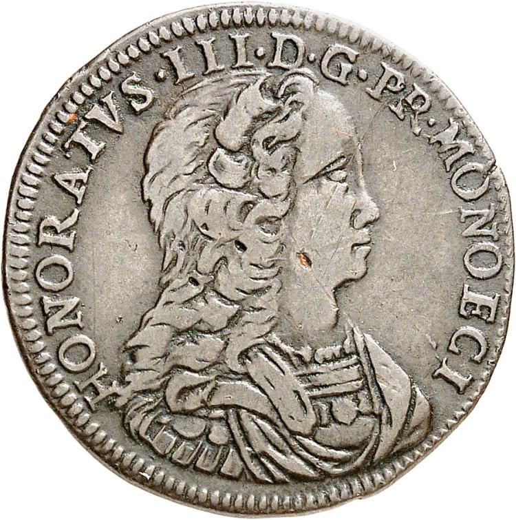 MONACO Honoré III (1733-1795). Pezzetta 1734.