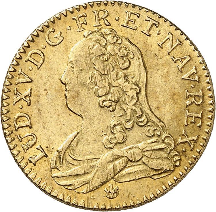 FRANCE Louis XV (1715-1774). Louis d'or aux lunettes 1726, Lyon.