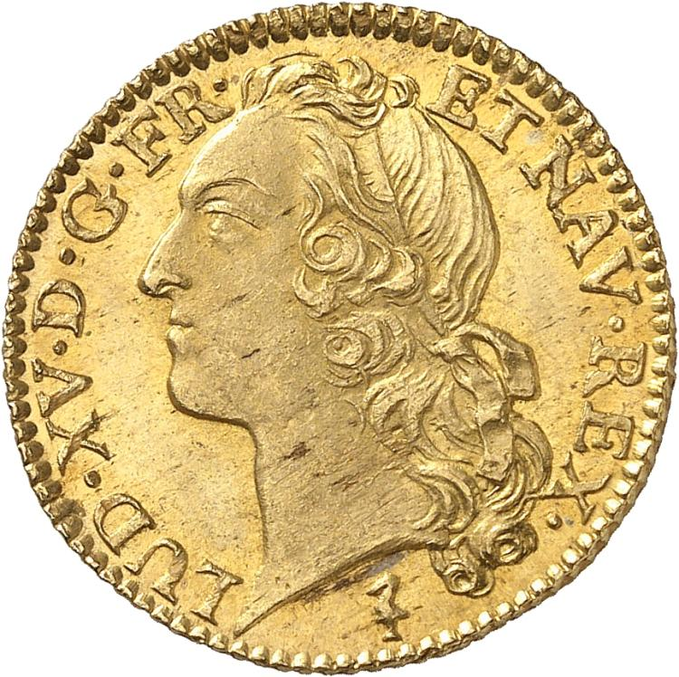 FRANCE Louis XV (1715-1774). Louis d'or au bandeau 1748, Lille.