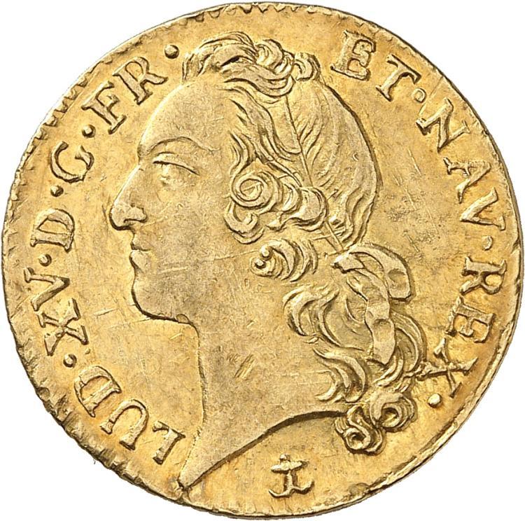 FRANCE Louis XV (1715-1774). Louis d'or au Bandeau 1756, Aix en Provence.