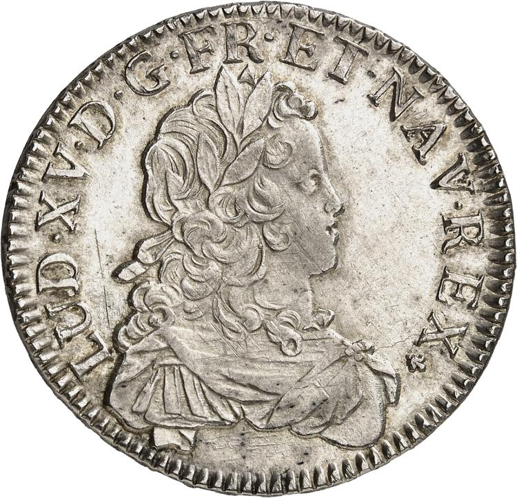 FRANCE Louis XV (1715-1774). Écu de France 1724, Bordeaux, flan neuf.