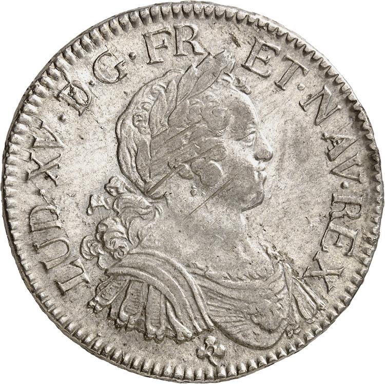 FRANCE Louis XV (1715-1774). Écu aux 8 L 1724, Troyes.